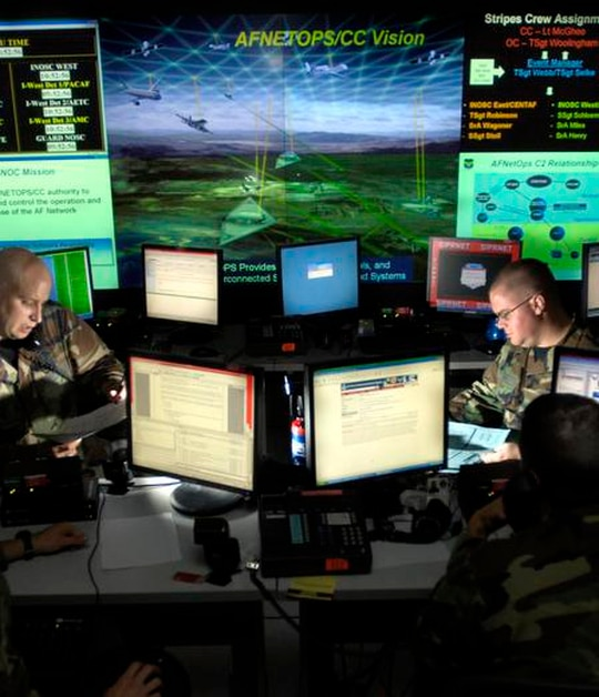 One of the first big milestones for Cyber Command's Unified Platform program will be fully building its software factory. (Tech. Sgt. Cecilio Ricardo/Air Force)