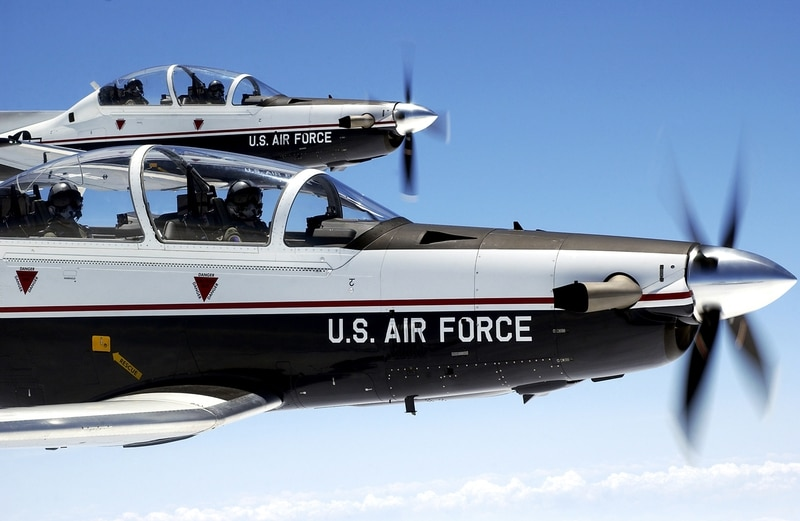 T-6 photos from Laughlin Air Force Base, Texas, in 2004. (Master Sgt. Jeffrey Allen/Air Force)
