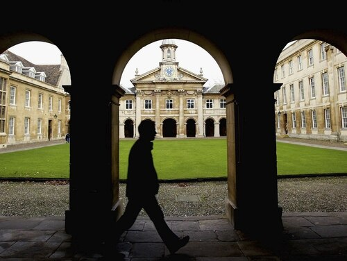 University students return for the spring term at Cambridge University on Jan. 13, 2004 in Cambridge, England. (Graeme Robertson/Getty Images)