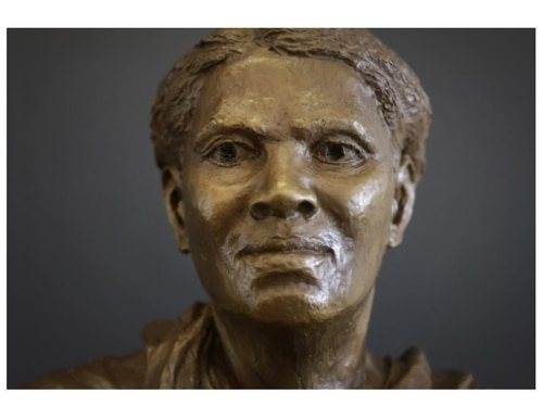 A bust of Harriet Tubman stands in the Harriet Tubman Underground Railroad Visitor Center, a stop on the Harriet Tubman Underground Railroad Byway, in Church Creek, Md. (Patrick Semansky/AP)