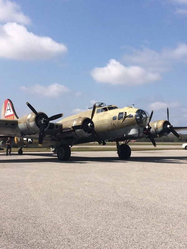 This Collins Foundation B-17G Flying Fortress, pictured in Tampa, Florida, was in Connecticut this week for an aircraft display. It crashed at about 10 a.m. (Howard Altman/Staff)