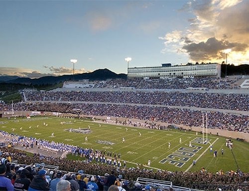 The Air Force Academy's Falcon Stadium will play host to a Colorado Avalanche game in February 2020, part of the NHL's ongoing series of outdoor games. (Air Force Academy)
