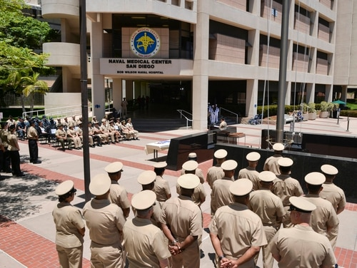 A Navy captain pleaded guilty earlier this year to conduct unbecoming an officer and a gentleman charges for incidents that took place last year at Naval Medical Center San Diego, shown here. (Navy)