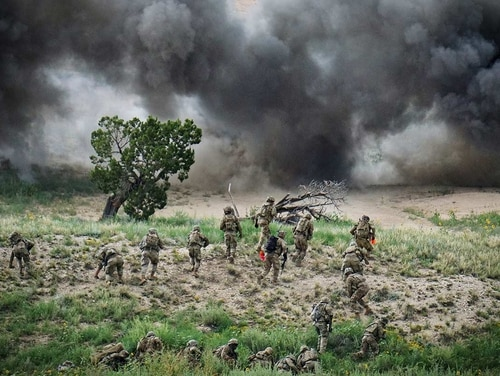 The Army is conducting a study to determine the right size for its infantry squads with the added technology that's expected to field in coming years. (Army)