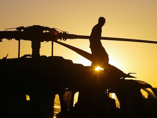 A U.S. service member was killed in a helicopter crash Friday in Logar province, Afghanistan. Officials said the crash was not caused by enemy action. (Joe Raedle/Getty Images)