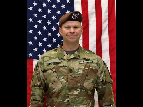 Command Sgt. Maj. Timothy Bolyard, of 3rd Squadron, 1st Security Force Assistance Brigade, was killed Sept. 3, 2018, in an insider attack in Afghanistan. Another soldier was wounded in the attack. (Army)