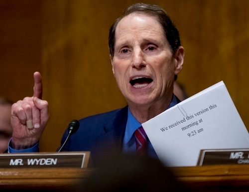 In this Sept. 25, 2017, file photo, Sen. Ron Wyden, D-Ore., speaks on Capitol Hill in Washington. (Andrew Harnik/AP)