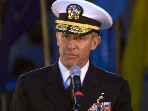President Donald Trump has named Vice Admiral Joseph Maguire, currently serving as the director of the National Counterintelligence Center, the acting director of national intelligence. (Petty Officer 1st Class Brien Aho/Navy)