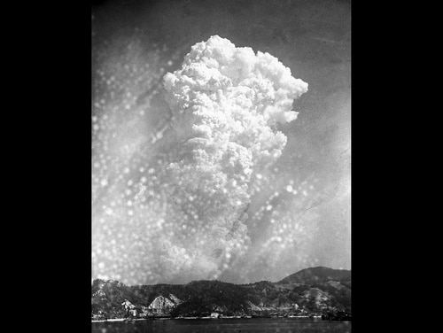 In this Aug. 6, 1945, file photo, smoke rises 20,000 feet above Hiroshima, Japan, after the first atomic bomb was dropped during warfare. (AP Photo, File)