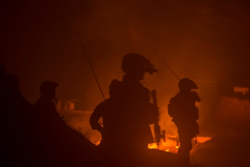 Afghan Special Operations soldiers destroy a Taliban weapons cache during a night operation in Ney Meydan, Sar-e Pul province, Afghanistan, Feb. 23. (Senior Airman Sean Carnes/Air Force)