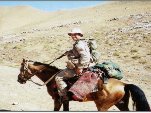 Then-Capt. Mark Nutsch led the 5th Special Forces Group's Operation Detachment Alpha 595. The team rode horses as they worked with militia allies to liberate Afghanistan from the Taliban in 2001. (Mark Nutsch)