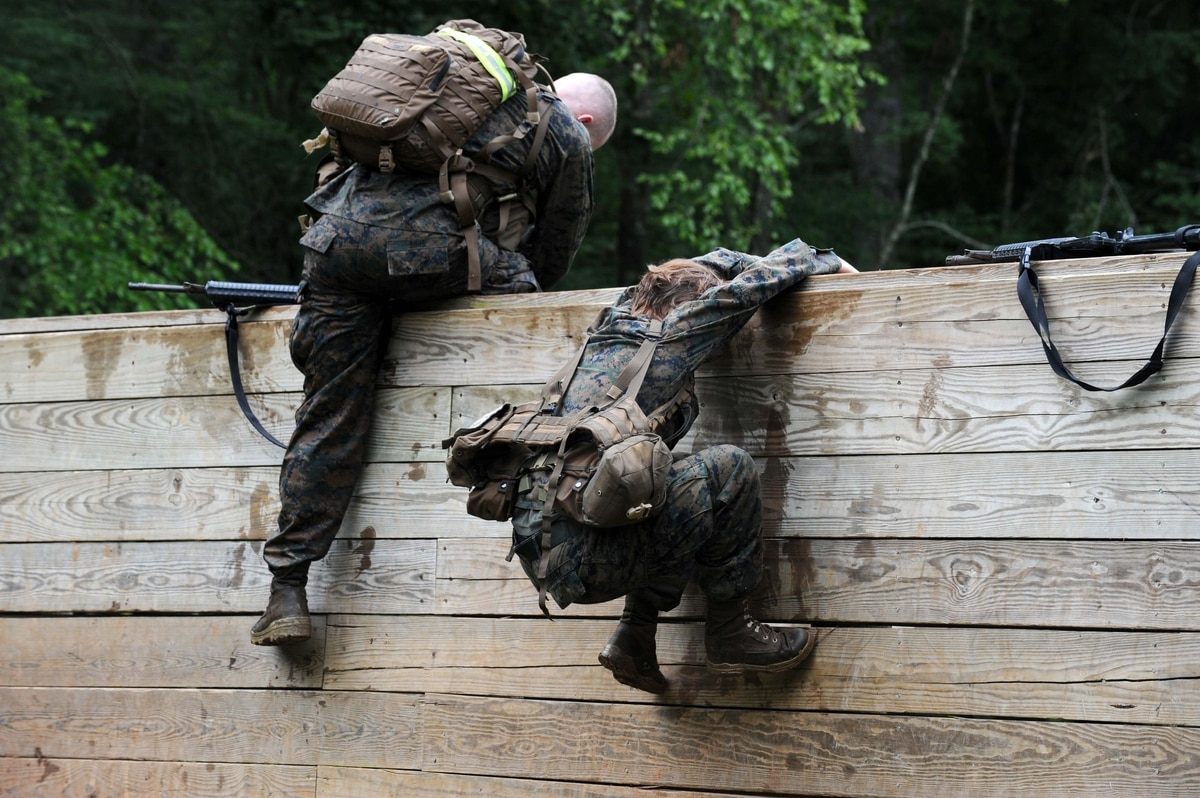 Female Marine can't complete Infantry Officer Course; no ...