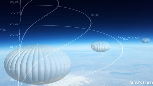 The Adaptable Lighter Than Air (ALTA) balloons are designed to navigate through winds by changing altitude. (DARPA)