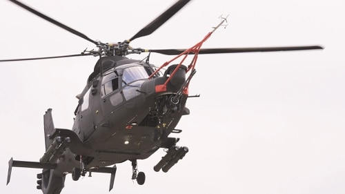 The South Korean Light Armed Helicopter takes part in a flight test. (Korea Aerospace Industries)
