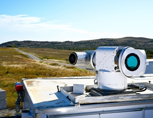 Lockheed Martin says its ATHENA laser weapon system destroyed multiple drones in a demonstration for the U.S. Air Force. (Lockheed Martin)