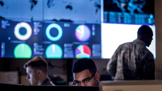 The 16th Air Force has realigned the mission for one of its contracting offices to better integrate cyber and intelligence capabilities. (J.M. Eddins Jr./U.S. Air Force)