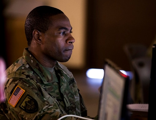 Hiring cyber talent is a national security priority that is facing issues within the military training pipeline and competition from the private sector. (Staff Sgt. George Davis/Army)