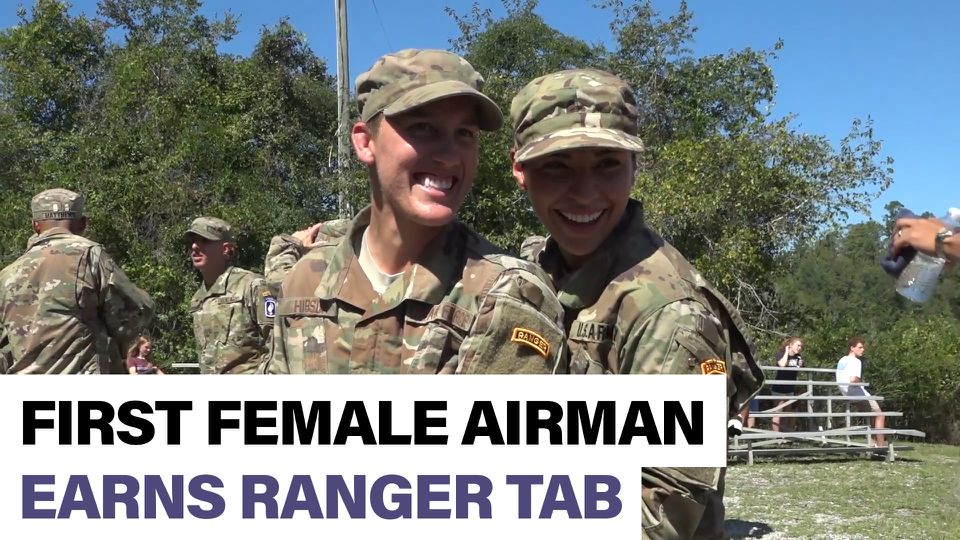 Air Force 1st Lt  breaks barrier for women airmen in Ranger
