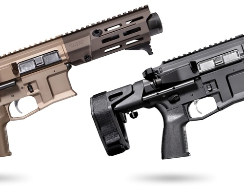 The ultra-compact MDX and PDX are also available as a pistol for shooters not interested in NFA-regulated firearms.