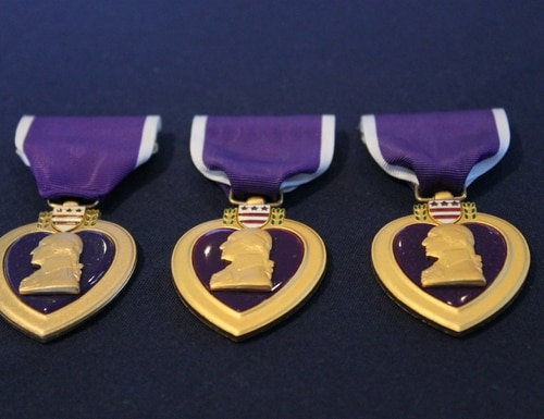 A 98-year-old World War II Marine Corps veteran received a Purple Heart nearly 75 years after he was injured in combat.