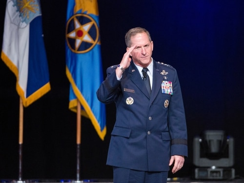 Gen. David Goldfein, Chief of the Air Force, talks during the Air Force Association Air, Space, and Cyber Conference at National Harbor Gaylord Convention Center in , MD, on Tuesday, September 20, 2016. (Alan Lessig/Staff)