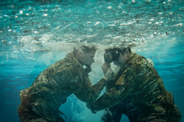 Special operations airmen perform