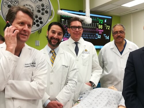 Part of the surgical team at Johns Hopkins that performed the historic transplant of a penis and scrotum for a veteran who was disabled as a result of an IED blast in Afghanistan. (Johns Hopkins Medicine)