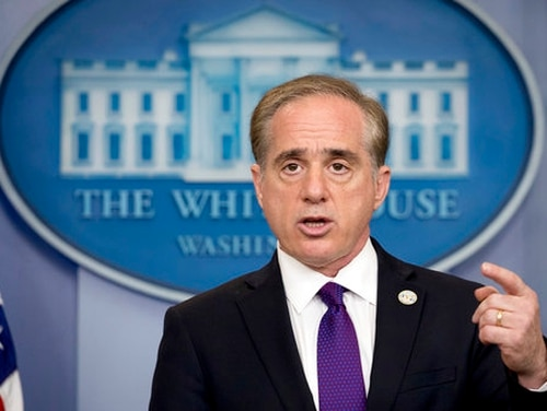 Veterans Affairs Secretary David Shulkin speaks at the daily press briefing at the White House in Washington on June 5, 2017. On Wednesday, an inspector general report blasted Shulkin and other VA staffers for improperly accepting gifts and misuse of power for an overseas trip last summer. (Andrew Harnik/AP)