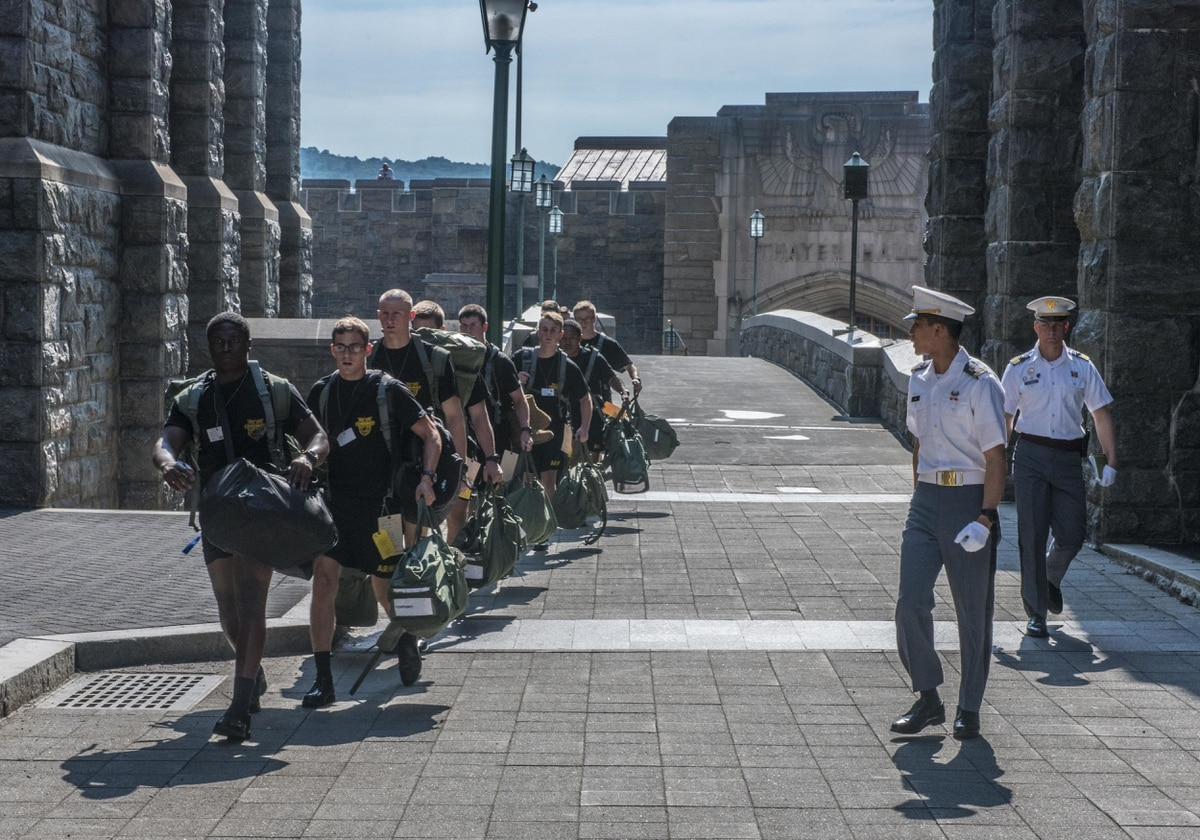West Point's incoming Class of 2021 prepares for Reception Day