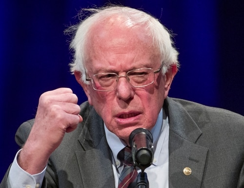 Sen. Bernie Sanders, I-Vt., says social spending would better align with people's needs and views, and that national security should be redefined in the wake of the global pandemic. (Alex Brandon/AP)