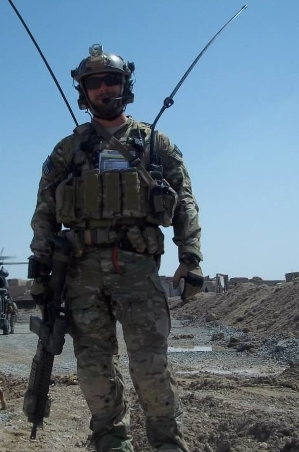 Staff Sgt. Richard Hunter, a combat controller attached to a team of 12 Army Special Forces soldier and 43 Afghan Army commandos, has been nominated for the Air Force Cross for his actions during a harrowing Nov. 2, 2016, mission. (Courtesy photo)
