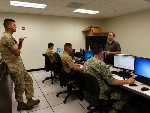 Lockheed Martin unveiled it's offer to compete for Cyber Command's unified platform contract. (U.S. Navy photo by Petty Officer 3rd Class Taylor L. Jackson/Released)
