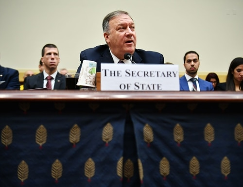 Secretary of State Mike Pompeo testifies before the House Foreign Affairs Committee on Feb. 28, 2020. (Mandel Ngan/AFP)