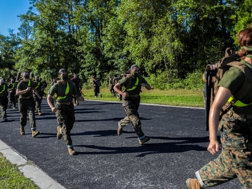 Recruits train aboard Marine Corps Recruit Depot Parris Island, S.C. (Lance Cpl. Devin Darden/Marine Corps)