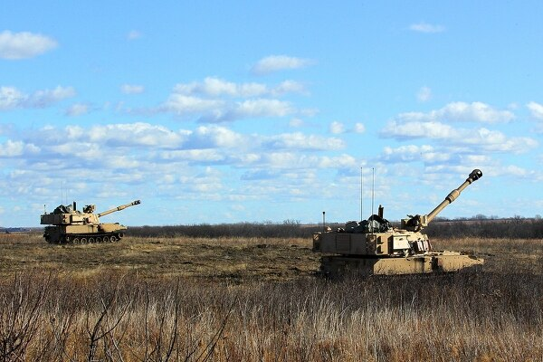 Soldiers with the Company B, 1st Battalion, 5th Field Artillery Regiment, 1st Armored Brigade Combat Team, 1st Infantry Division fired hundreds of rounds a day for two week straight testing upgrades to the M109A7 Self-Propelled 155mm Paladin Howitzer. (Army)