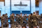 One week after deadly attack, Capitol Hill halls filled with National Guard troops instead of tourists and staffers
