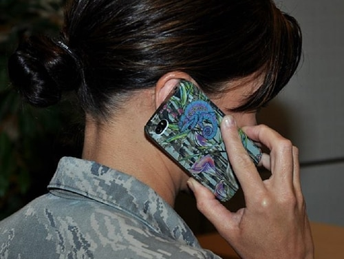 Service members may be able to outfit their family of four with cellphone coverage for $100 under a new discount plan. (Air Force)