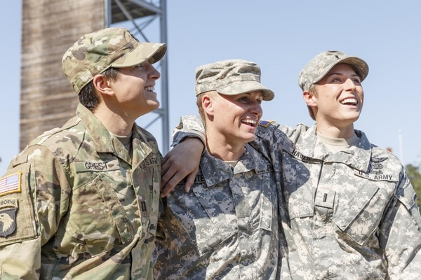 Friday, October 16, 2015 in Fort Benning, GA. Maj. Lisa Jaster is set to become the third woman to graduate from the US ArmyÕs elite Ranger School, which previously was open only to men. She joins just two other women, Captain Kristen Griest, 26, and First Lieutenant Shaye Haver, 25, in gaining a coveted Ranger tab. (Paul Abell / AP Images for U.S. Army Reserve) (Photo by Courtesy Photo)