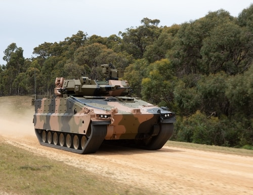 An international team led by Hanwha submitted its Redback infantry fighting vehicle for an Australian Army competition. (Hanwha Defense Australia)