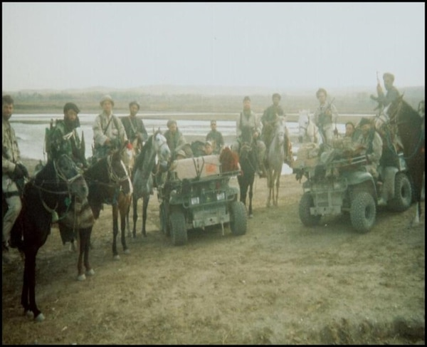 ODA 595 with militia allies on Nov. 9, the day before Mazar-e-Shariff was liberated. (Mark Nutsch)