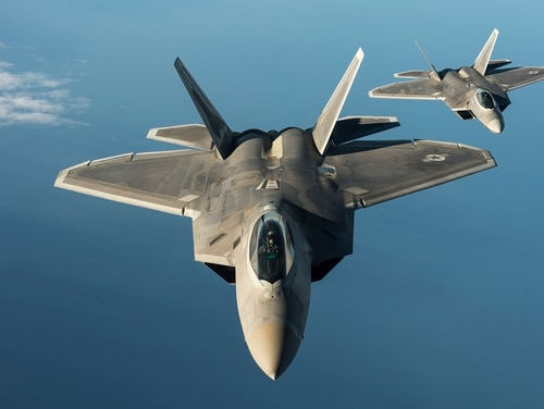 The U.S. will invest in air bases in Eastern Europe and elsewhere on the continent so they can temporarily house stealth fighters like the F-22 Raptor and other assets to deter Russian aggression. (Tech. Sgt. Jason Robertson/Air Force)