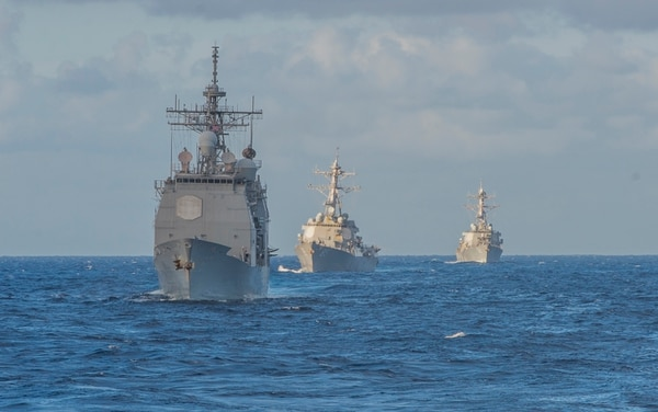 The surface fleet could look very different in just ten years, according to Esper. (Photo: MC1 David Holmes.)