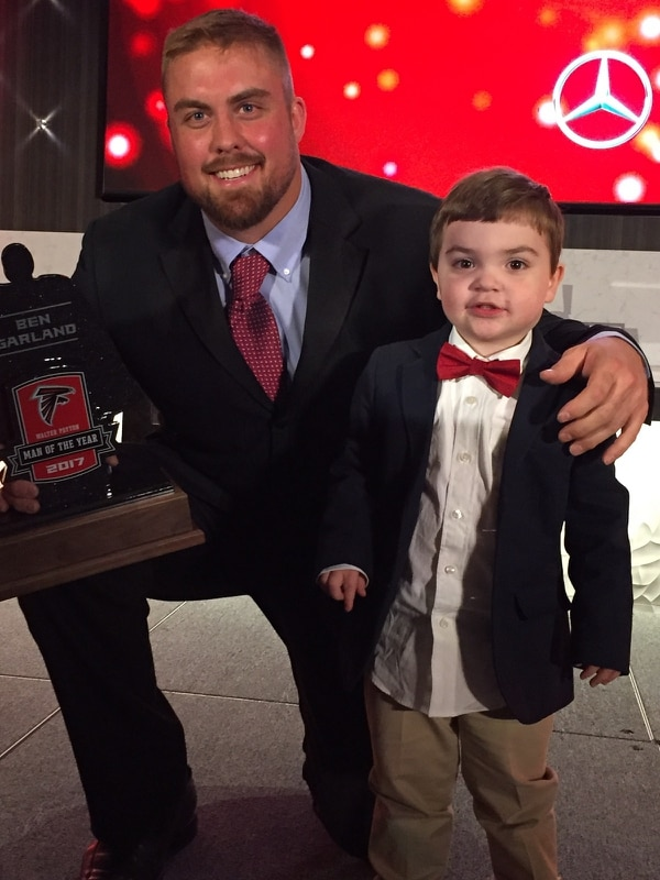 Ben Garland bonded with Cooper, 3, through a partnership between the NFL and TAPS. (Tragedy Assistance Program for Survivors)