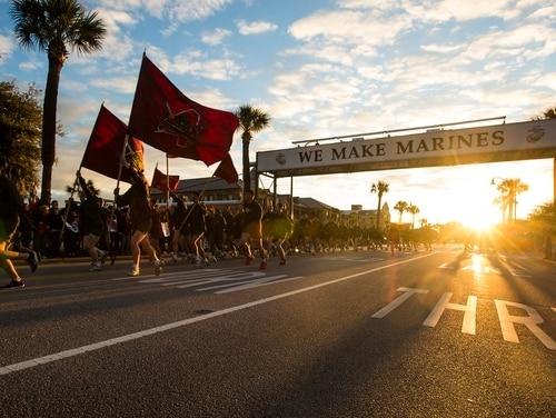 A Marine first sergeant previously stationed at the Corps' recruit depot aboard Parris Island, South Carolina, faces trial over his alleged involvement in a razor blade theft ring. (Lance Cpl. Aaron Bolser/Marine Corps)