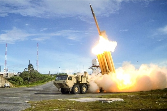 The THAAD system is a globally transportable, rapidly deployable capability to intercept and destroy ballistic missiles inside or outside the atmosphere during its final phase of flight. (Lockheed Martin)