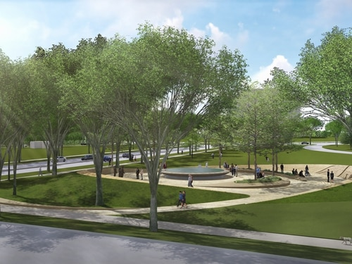 Recently approved final designs were unveiled for the National Desert Storm Desert Shield War Memorial. The memorial is scheduled to be completed by 2021. (National Desert Storm War Memorial Association)