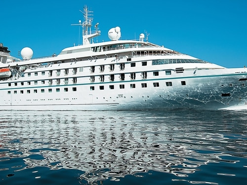 The Bahamas-flagged Star Pride is a luxury liner with a cruising speed of 15 knots.