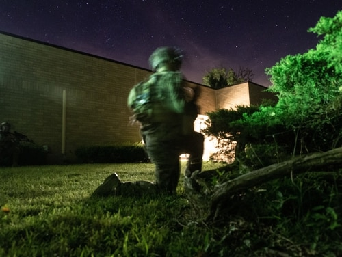 The Marine Corps Warfighting Laboratory executed Project Metropolis II, a Dense Urban Operations limited operational experiment 2019 at Muscatatuck Urban Training Center, Indiana. The project was recently cancelled and refocused to Marine Littoral Regiment experimentation. (Marine Corps)