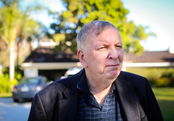 Duncan Farmer speaks outside his home about his son, Army Chief Warrant Officer 2 Jonathan R. Farmer, Friday morning in Palm Beach Gardens, Fla. His son was killed in the northern Syrian town of Manbij on Wednesday, Jan. 16, 2019. The attack also wounded three U.S. troops and was the deadliest assault on U.S. troops in Syria since American forces went into the country in 2015. (Bruce R. Bennett/Palm Beach Post via AP)