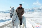North Korea's Kim Jong Un rides horse on sacred peak, vows to fight US sanctions